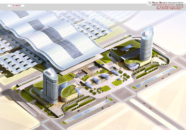 武广客运专线新长沙站交通枢纽站前广场工程